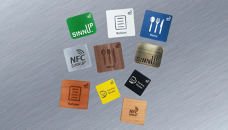Individual NFC Sticker incl  laser engraving on metal | NFC Sticker